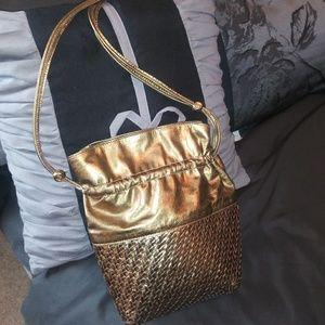 Authentic vintage Gold Gucci bag
